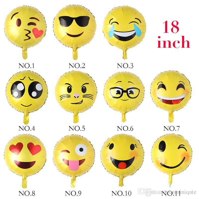 Grosshandel 18 Zoll Emoji Folie Ballon Ballon Alles Gute Zum