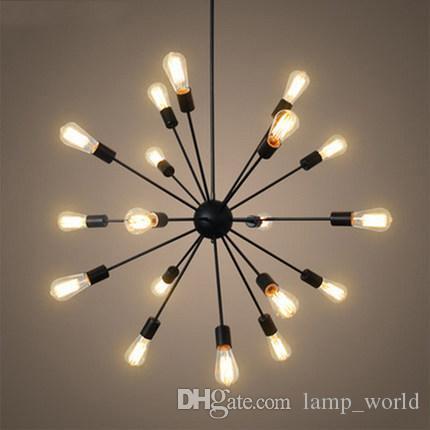 Großhandel Hot Sputnik Atom Starburst Licht Lampe Kronleuchter Mid Century  Modern Eames Pendelleuchte Suspension Vintage Beleuchtung 12/18 Köpfe Von  ...