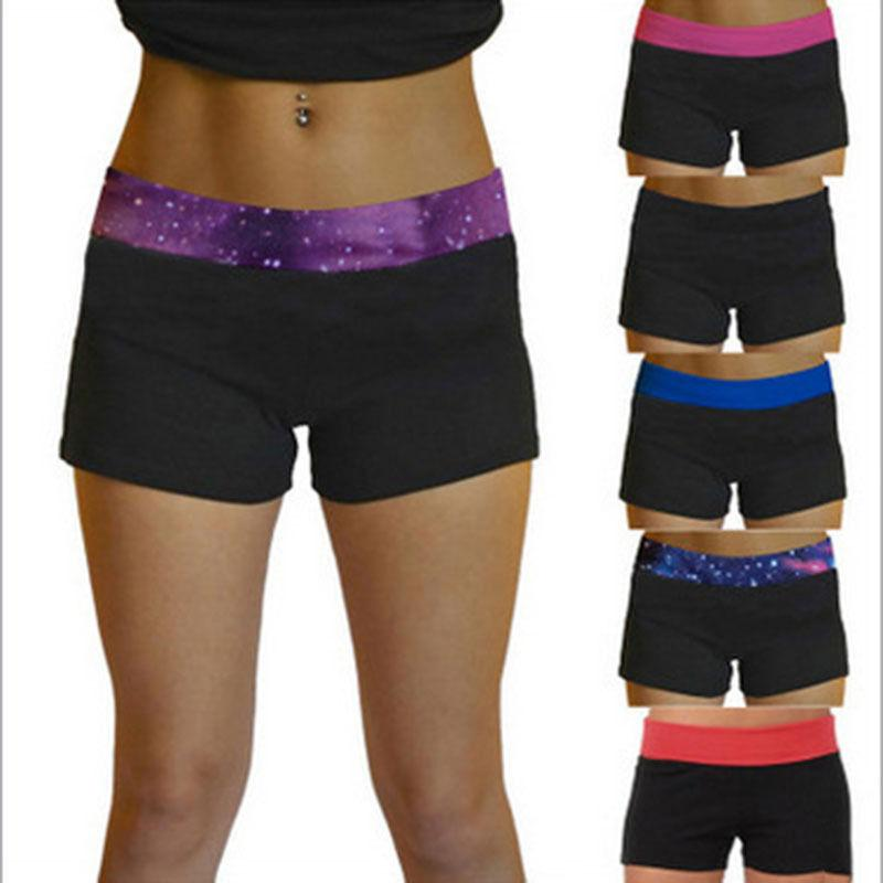 New Women Sport Compression Yoga Base Layer Fitness Running Gym Elastic Shorts