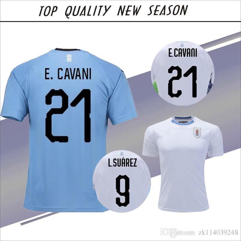 1391e1af8 ... 2018 world cup uruguay blue home soccer jersey suarez edinson cavani  forlan godin uruguay 18 19