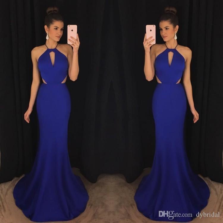 2018 sexy barato plus size sereia preto menina prom vestidos vestidos de noite formais africano royal blue prom vestidos longos