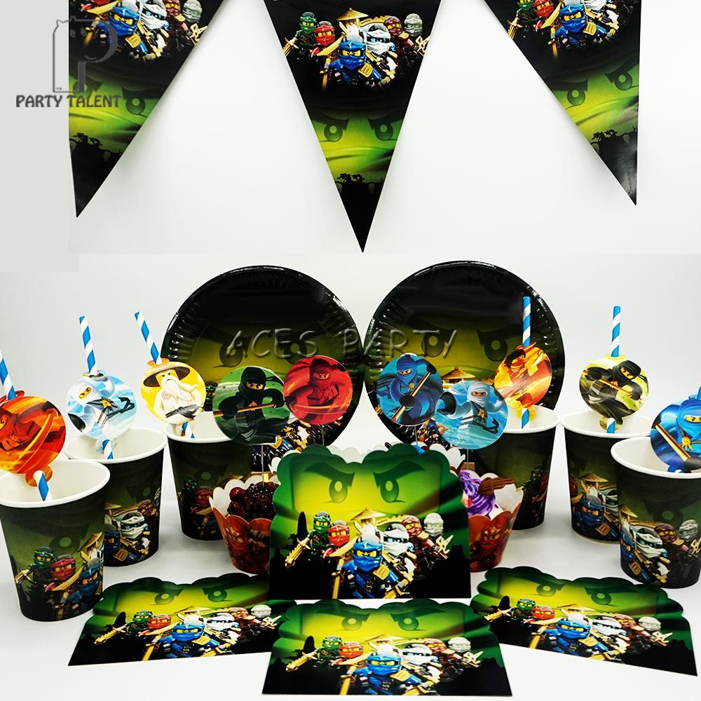 Compre Fontes Do Partido Para 12 Kids Ninjago Tema Decoração Festa