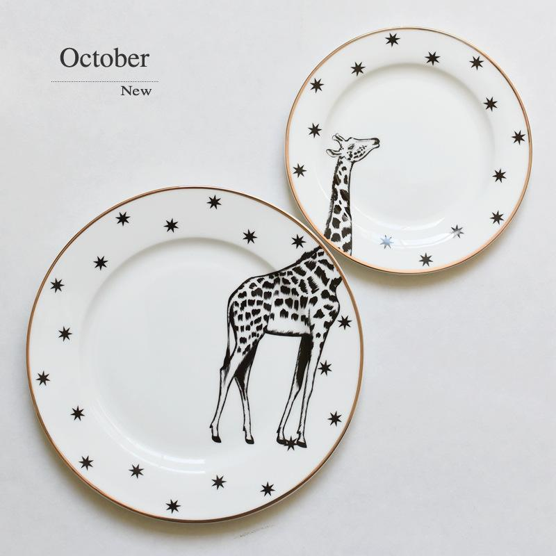 6u00268 Inch Animal Combined Plates Set Ceramic Plates Fox Elk Giraffe Zebra Pattern Plates Steak Breakfast Cake Fruits Dish Purple Dinnerware Sets Quality ...  sc 1 st  DHgate.com & 6u00268 Inch Animal Combined Plates Set Ceramic Plates Fox Elk Giraffe ...