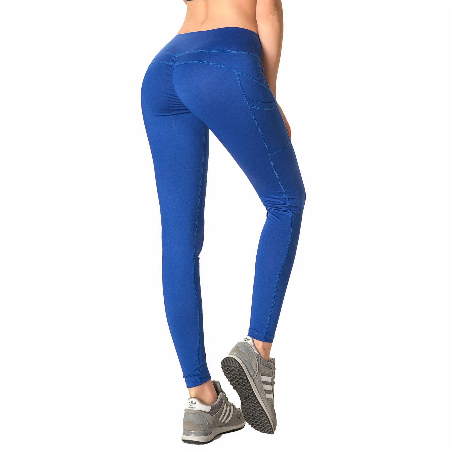 8dbe82c6fa 2019 European And American Hot Selling Side Hidden Pockets Yoga Pants High  Elastic Tight Breathable Fast Drying Fitness Pants Sexy Sports Pants From  ...