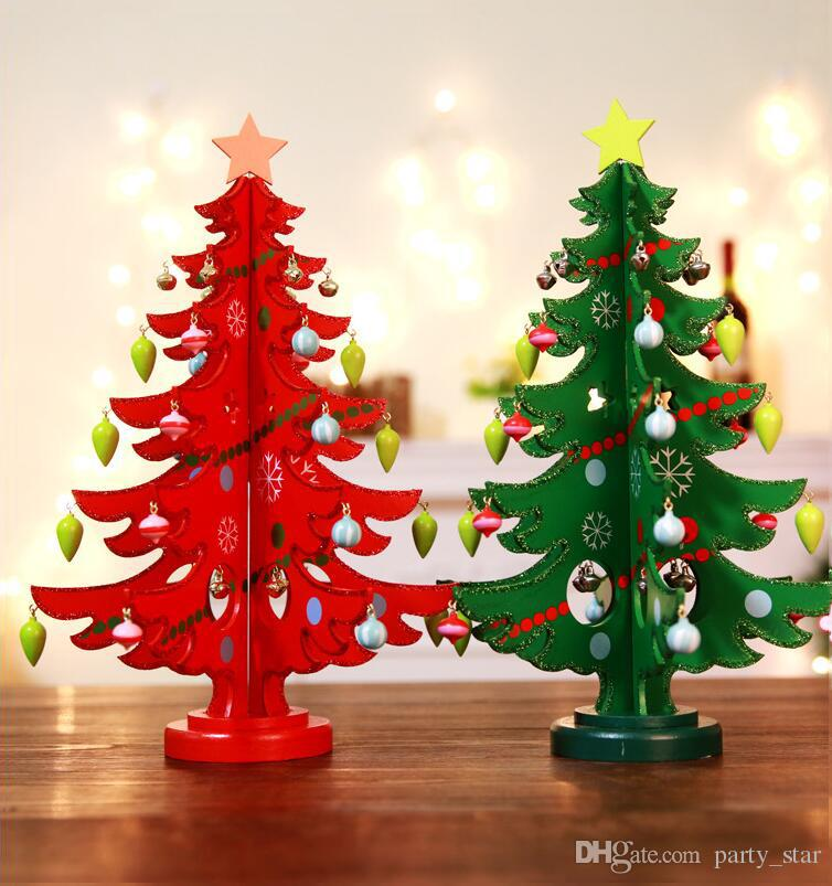 Red Green Christmas Gift Diy Christmas Tree Indoor Home Store