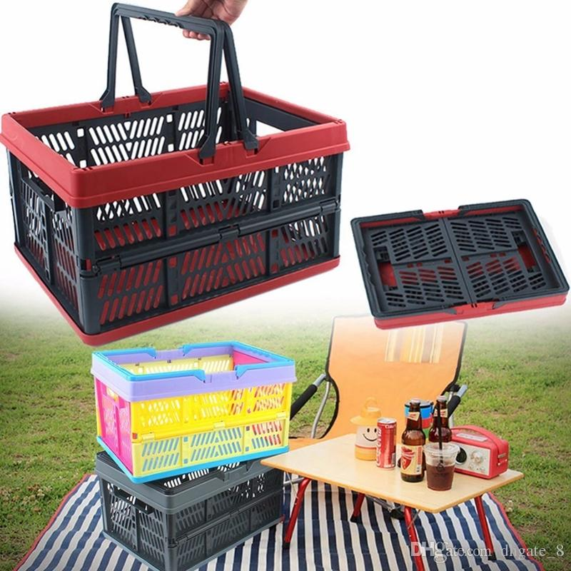 Charmant 2018 Outdoor Storage Baskets Camping Folding Storage Basket Handheld  Plastic Storage Container Basket Camping Tools Food Organizer Yfa284 From  Dhgate_8, ...