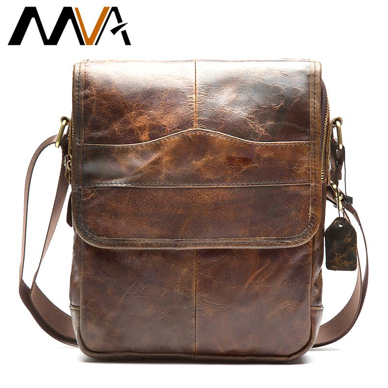 98014d5cd617 MVA Messenger Bag Men S Shoulder Bag Genuine Leather Strap Small Casual  Flap Male Man Men S Crossbody Bags For Men Leather 1121 S914 Designer Purses  Satchel ...