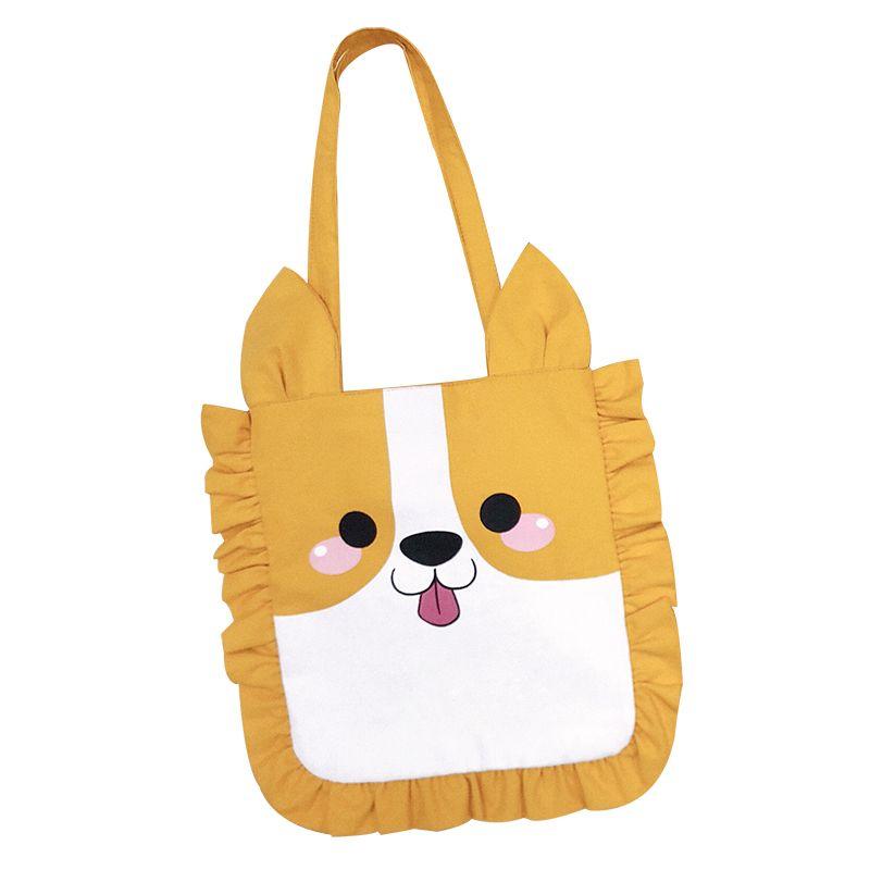 Kawaii Corgi Panda Pig Shape Animal Handbag Girl Canvas Shoulder Bag  Children Kids Shopping Tote Bag Students Shoulder Hand School Bags  Messenger Bags From ... a4c4a66c36