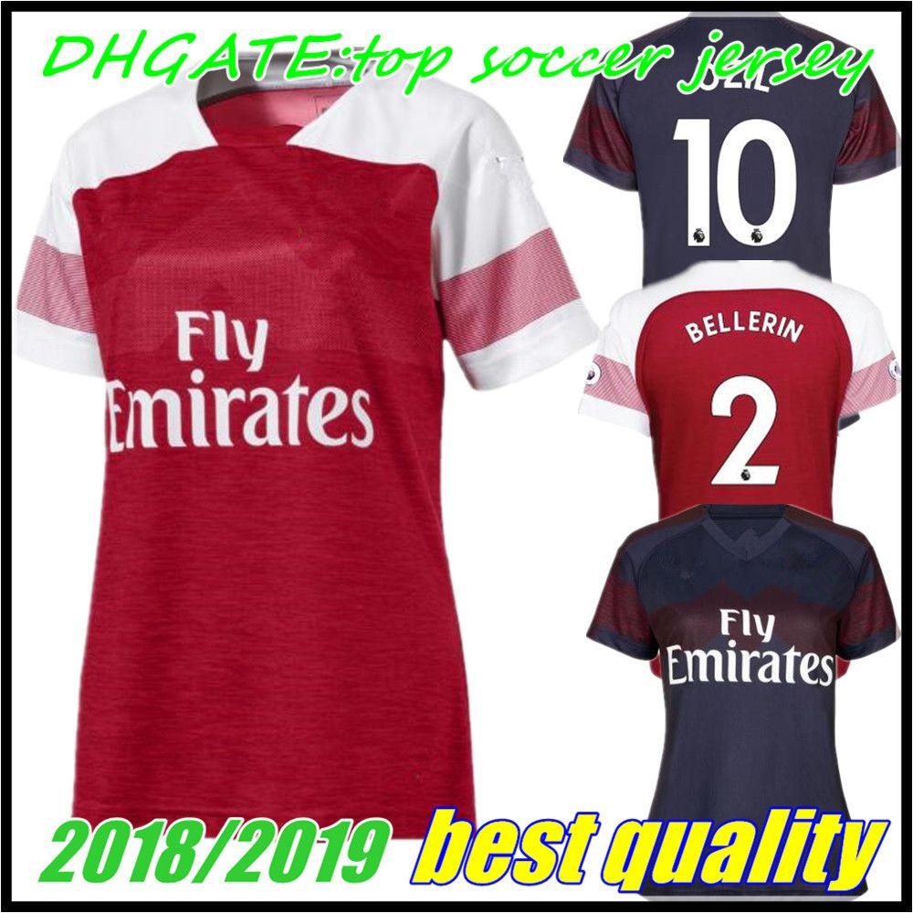 ca9d4decf Compre 2018 Mulheres Arsenal Gunners Ozil Aubameyang Camisa De Futebol 18 19  Alexis Wilshere Giroud Lacazette Camas Xhaka Home Menina Camisa De Futebol  De ...