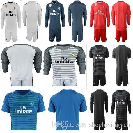 c02658f33 New 2019 Real Madrid Soccer Jersey Long Sleeve Soccer Shirt 2018 ...