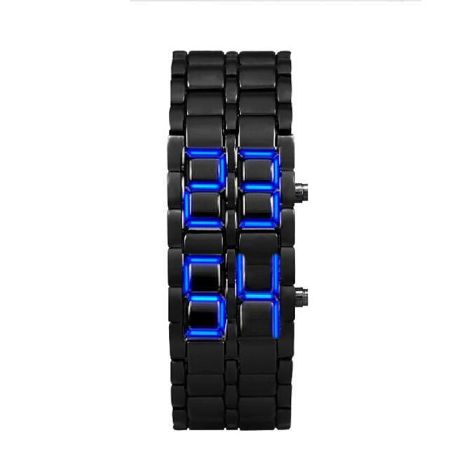 742973dfcd3 Compre Relojes Hombre Relógios Homens Lava Estilo Ferro Samurai Pulseira  Preta LEVOU Japonês Inspirado Relógio Azul Erkek Kol Saati Horloges   H23  De ...
