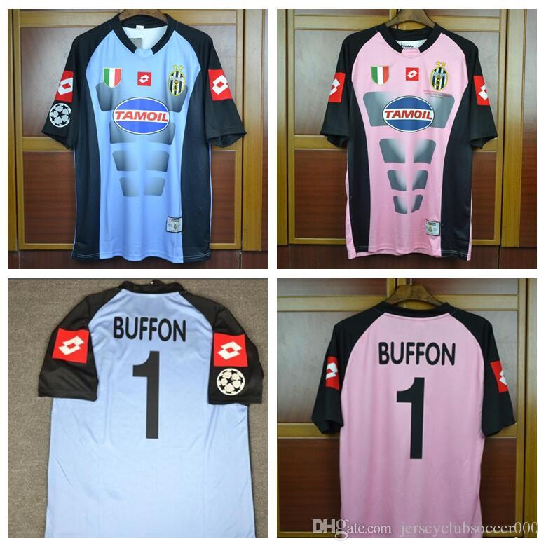 88032b64e81 2019 02 03 Italy Buffon Goalkeeper Gaolie Retro Jerseys Pink Blue 2002 2003  Champion Final Football Shirt From Jerseyclubsoccer000