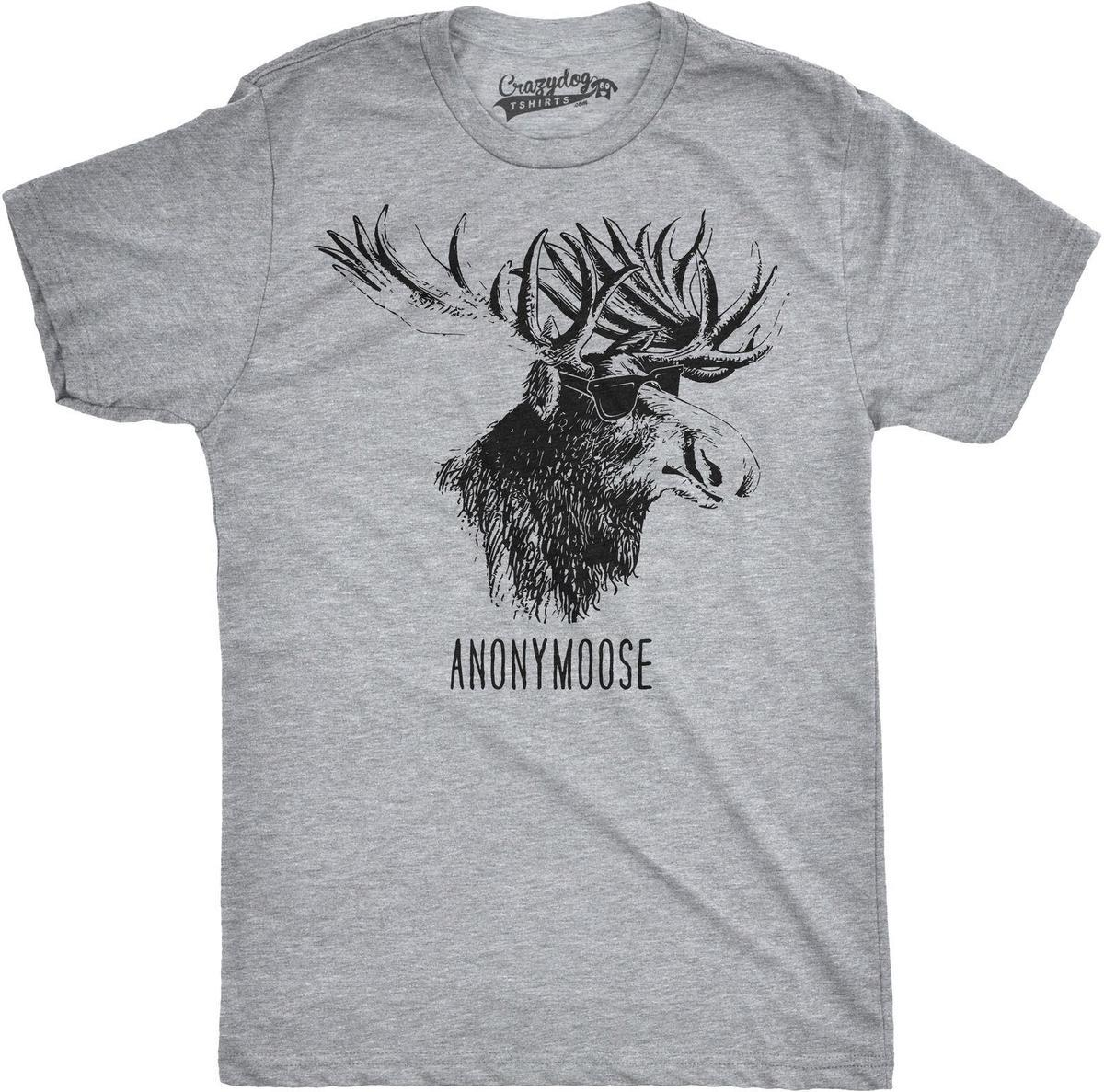 4f5ce7b8e6 Mens Anonymoose Funny Moose In Sunglasses Tshirt Cool Shades Forest Animal  Tee It T Shirt Design Clever Tee Shirts From Amesion61, $12.08| DHgate.Com