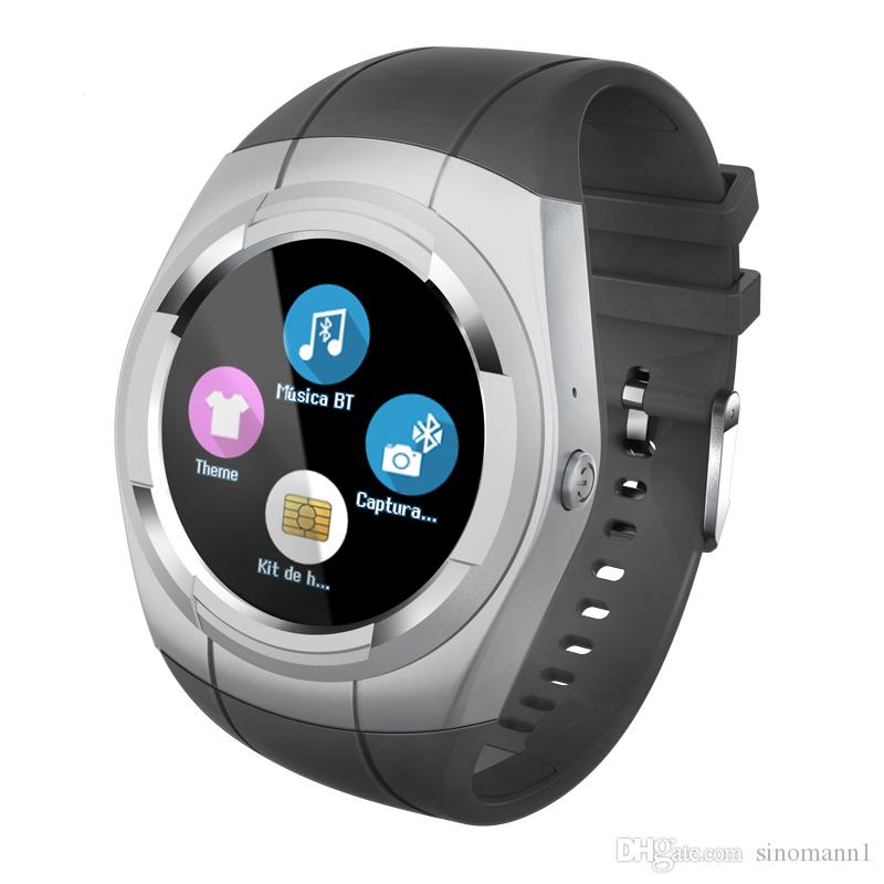T60 Smart Watch Round Nano SIM TF Card With Whatsapp Facebook fitness Business Smartwatch For Android Vs gt08 Pk DZ09