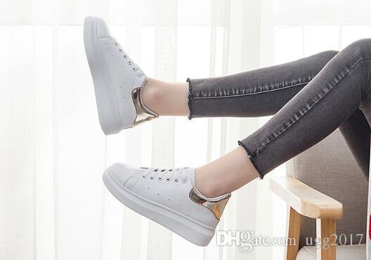 2018 spring new white shoes female Korean thick-soled sports shoes students increased running