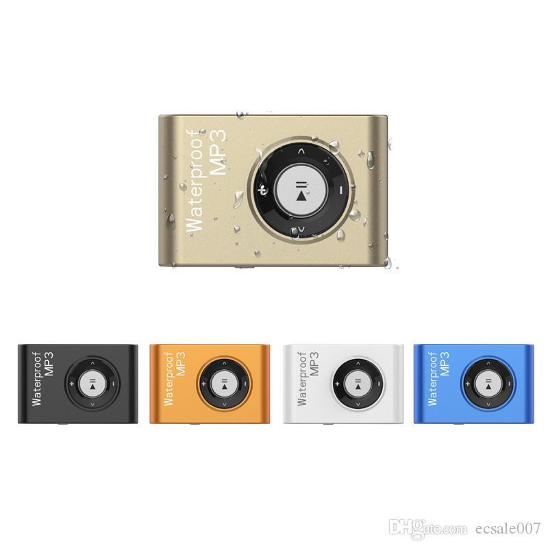 IPX8 للماء مشغل MP3 السباحة الغوص تصفح 8 جيجابايت / 4 جيجابايت الرياضة سماعة رأس مشغل موسيقى مع FM كليب Walkman MP3Player