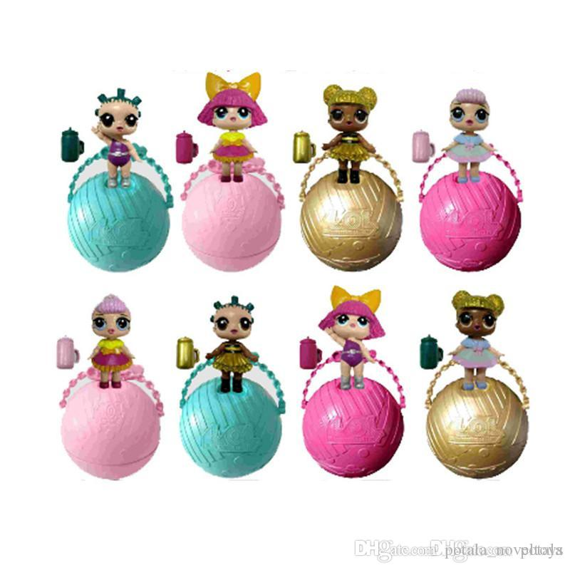 Doll Series 2 LiL Sisters Action Figures 7.5CM Ball Dolls Dress Up Baby Spray Water Dolls Toys body changes Xmas Classic Birthday gifts