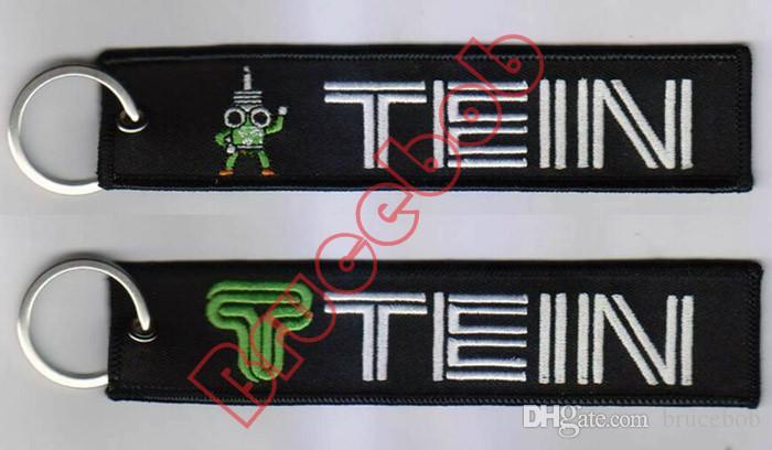 Mariée TEIN RECAR JDM Style broderie logo Tissu Porte-clés porte-clés Bagages Moto Clé De Voiture chaîne