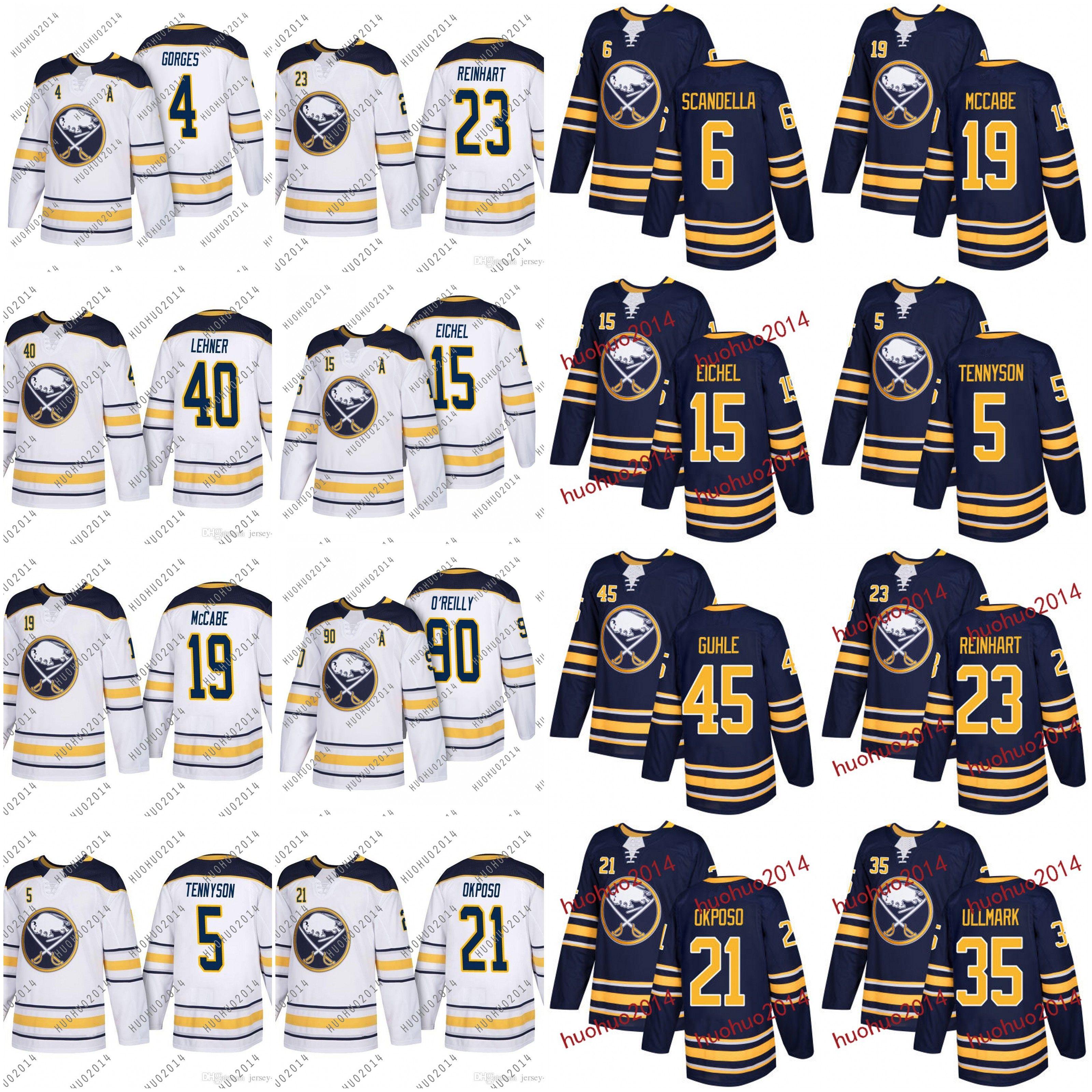 2019 Buffalo Sabres Jersey 2018 Jack Eichel Ryan O Reilly Kyle Okposo Matt  Moulson Evander Kane Reinhart Beaulieu Guhle Ulmark Hockey Jerseys From ... 9ef0897c4