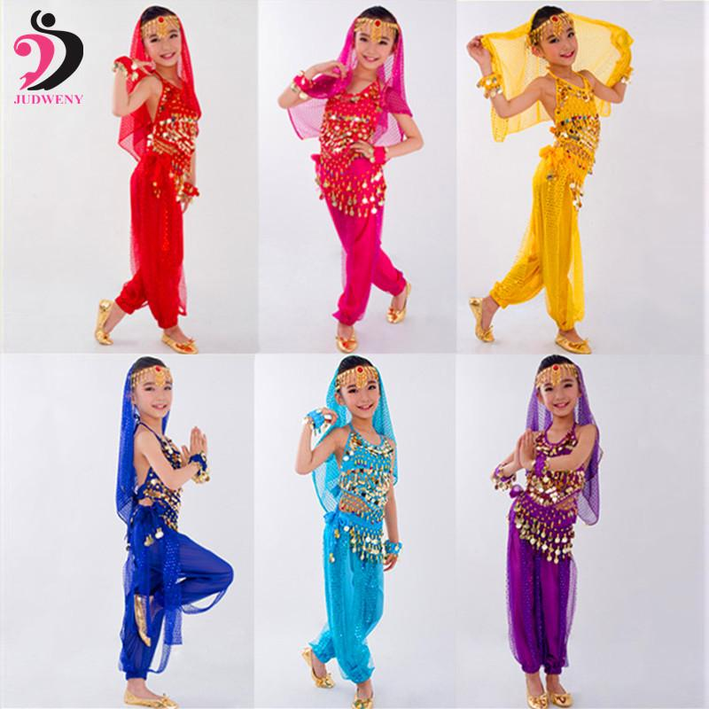 1a2a812118a4 Acquista Costumi Danza Del Ventre Bambini Set Abiti Da Ballo Orientali  Vestiti Bambini India Abiti Il Ventre Bellydance Bambino Bambini Indiani i  A  44.3 ...