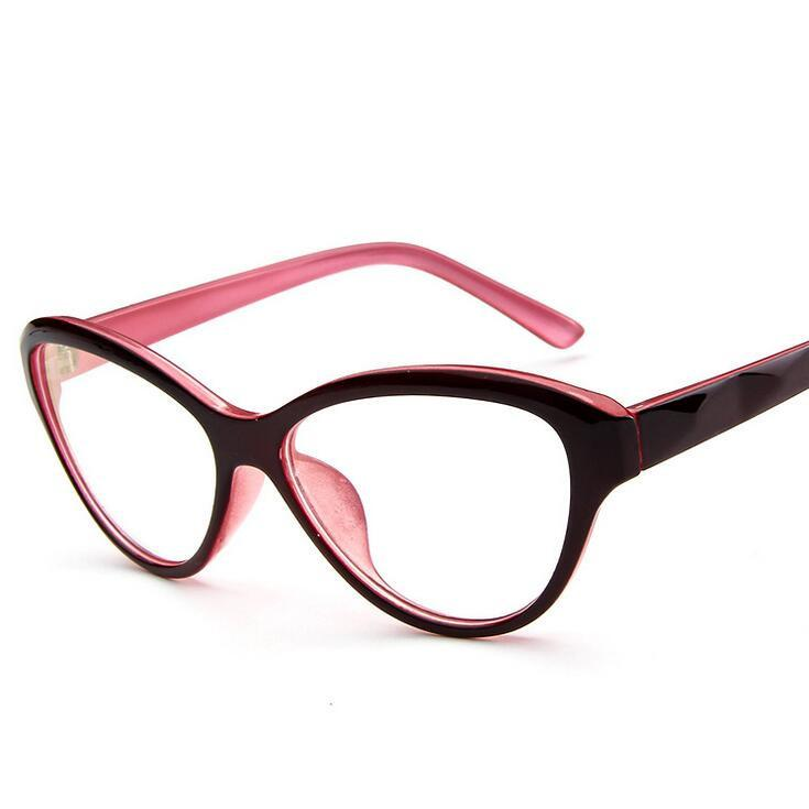 608dfc593a 2019 Cat Eye Style Clear Lens Eyeglasses Frame Women Eyewear Fashion  Vintage Spectacle Optical Eye Glasses Frames For Women 005 From Naixing