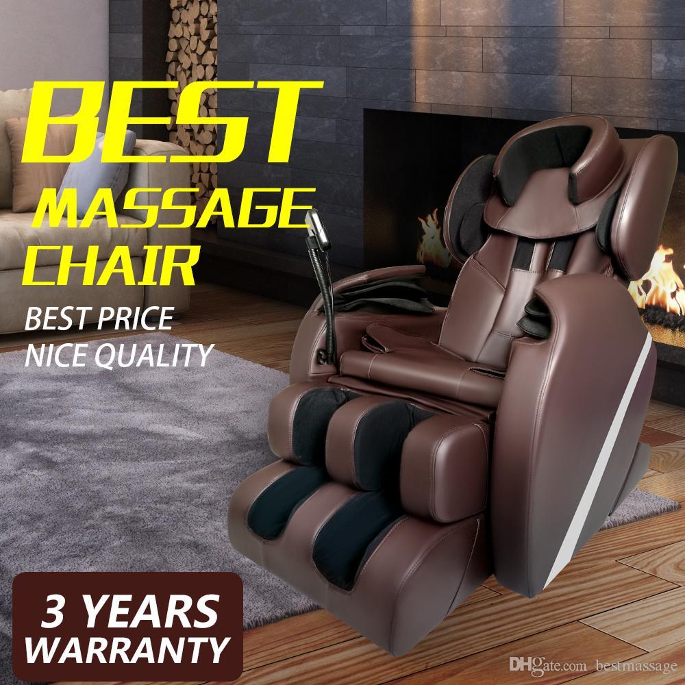 2018 free tax electric full body shiatsu massage chair foot roller