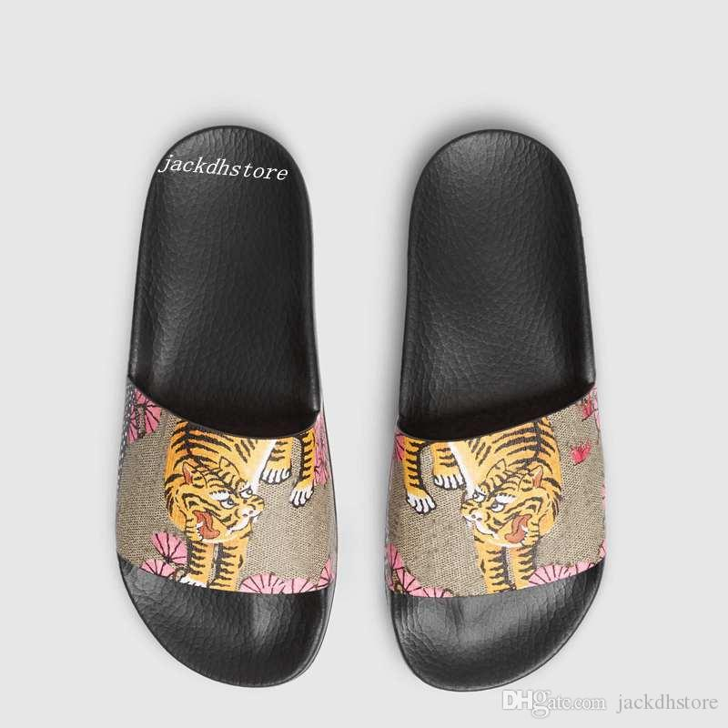 51f8dfe71922 Mens And Womens Fashion Pink Bengal Tiger Print Rubber Slide Sandals ...