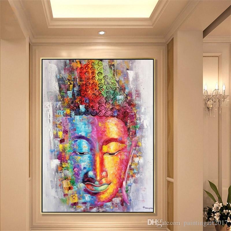 Imagen de pintura de la lona de buda arte de la pared decoración del hogar pintado a mano pintura al óleo abstracta moderna sobre lienzo de regalo sin marco pintura