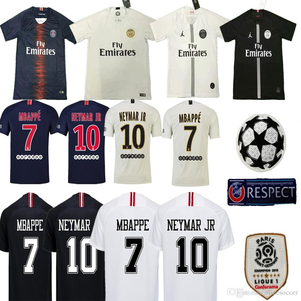 2019     Champions League 2018 PSG Home Away MBAPPE CAVANI Soccer Jerseys  Paris Football Shirt T SILVA CAVANI DI MARIA PASTORE Soccer Shorts From ... 6cc825aaf