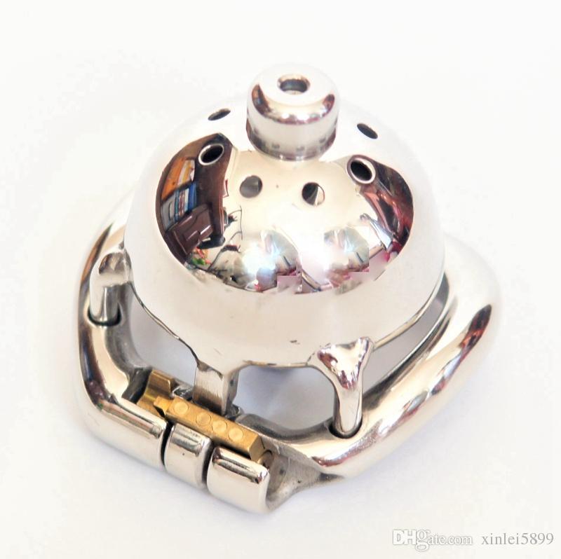 Súper jaula de gallos con 8 mm de diámetro Catéter uretral Dispositivo de castidad masculina de acero inoxidable 1.77
