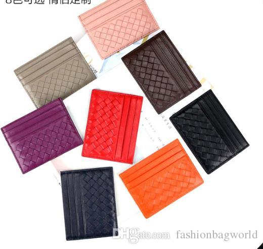 301c42a71c7 Hand Woven New Mens Women Classic Design Casual Credit Card ID Holder Hiqh Quality  Real Leather Ultra Slim Wallet Packet Bag For Mans Womans Awesome Wallets  ...