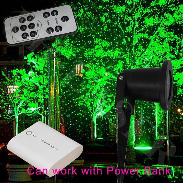 Grüne Landschaft Sternenhimmel im Freien Laserlicht Show Projektor wasserdicht Garten Laser Lights Lazer mit Fernbedienung