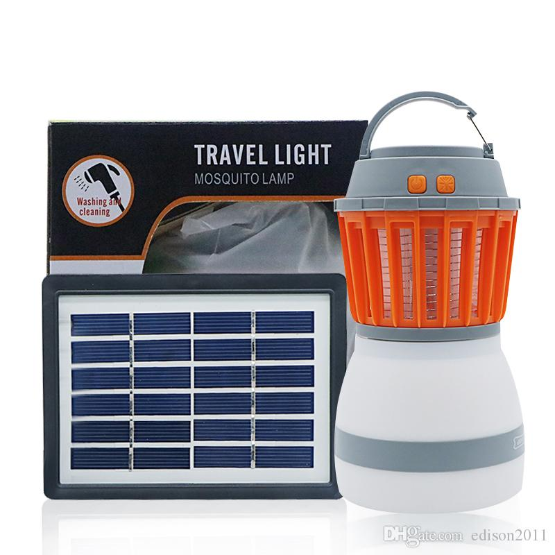 04eb5d1eb00 2019 Edison2011 Portable 2 In 1 Travel Light Mosquito Lamp Solar USB  Charging Mosquito Killer Lamp IP67 Camping Light For Outdoor Fishing Hiking  From ...