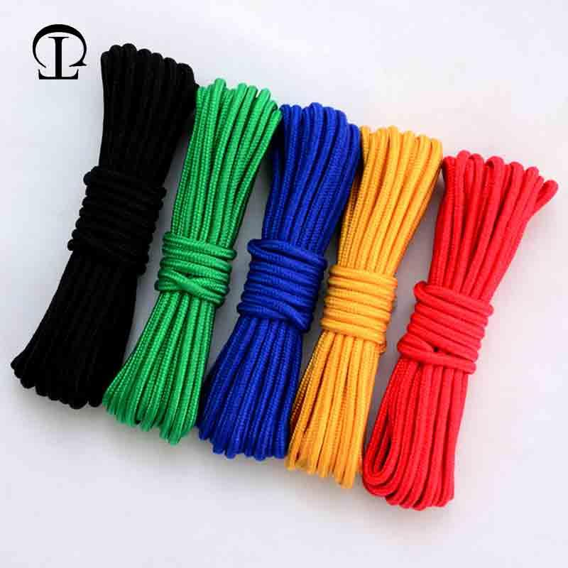 4-8mm 10m braided nylon rope Polypropylene rope climbing boat yacht sailing  line pulley Clothesline Survival Parachute Cord