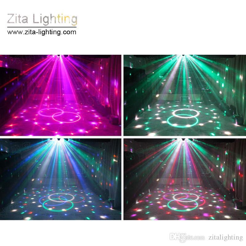 Zita Lighting Mini Crystal Magic Moving Moving Rotating DJ Disco Ball RGB LED Stage Effetti di luce Suoni Control DMX512 Wedding Dance Party