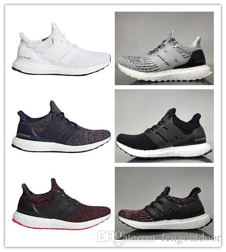 43e441350 Cheap Ultra Boost 3.0 4.0 Triple Black And White Primeknit Oreo CNY Blue  Grey Mens Women Running Shoes Ultraboost Sport Sneaker 36-45