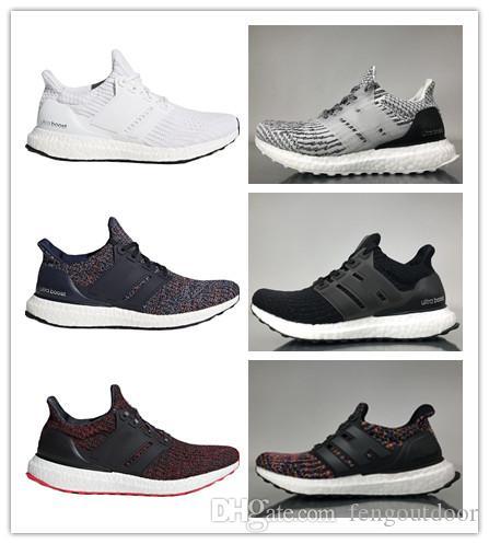 84cf61b1147f7 Cheap Ultra Boost 3.0 4.0 Triple Black And White Primeknit Oreo CNY Blue  Grey Mens Women Running Shoes Ultraboost Sport Sneaker 36-45