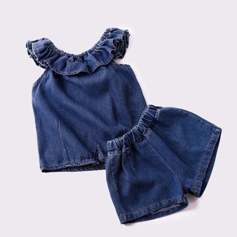 f03a50dc675 JOYHOPY Girls Clothing Sets 2018 New Summer Girls Clothes Sleeveless ...