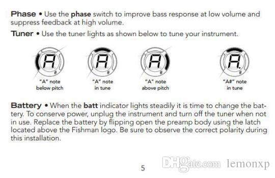 Alta Qualidade Fishman EQ 301 Sistema Equalizador Tuner Acoustic Guitar Pickup Frete Grátis Venda Quente Em Estoque