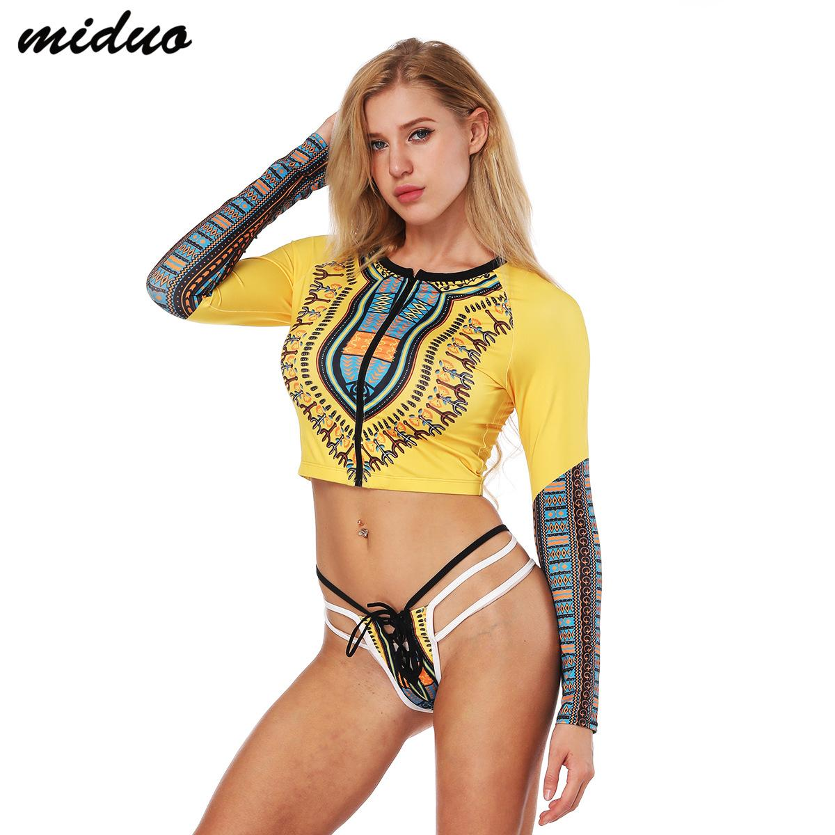 3368df54a8d3 3D Personality Printing Sexy Strap Triangle Swimsuit Sexy Zipper ...