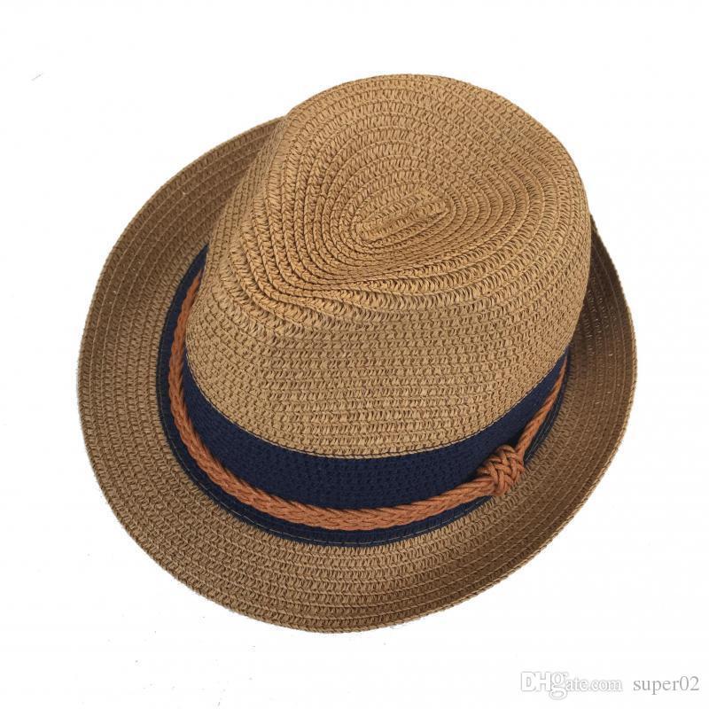 bf700f4f246 Fedora Straw Sun Hat For Women Men Unisex British Style Sunshade Beach  Panama Jazz Top Hat Vintage Female Male 2018 Summer Sun Hats Sun Hat From  Super02