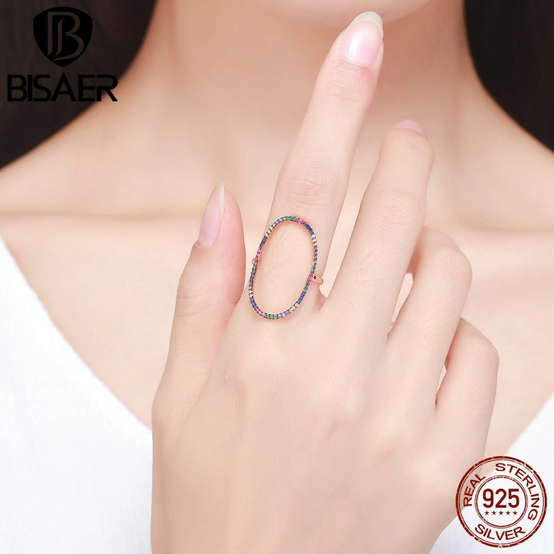 2018 100% 925 Sterling Silver Colorful Halo, Black Clearly Cz Rings ...
