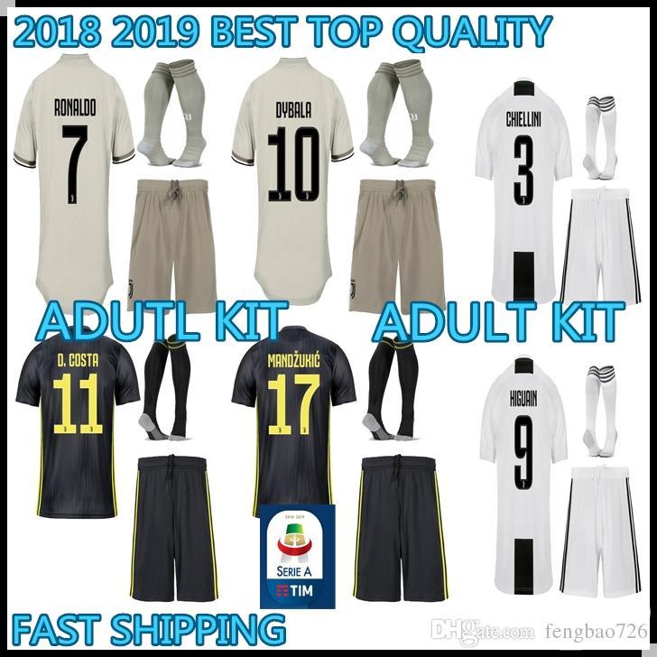 Adult Kit 18 19 Ronaldo Juventus Soccer Jersey Home AWAY THIRD 2018 ... 09953d0e2