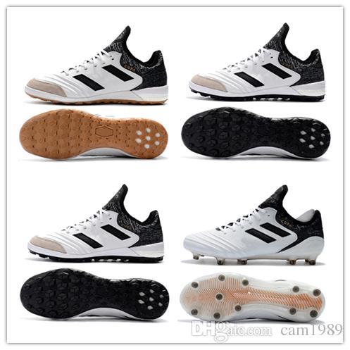 2019 2018 Mens Copa Mundial Leather FG Soccer Shoes Copa Tango 18 1 IN FG  TF Football Boots Black White Orange Botines Futbol Size 39 45 From  Cam1989 8f622ebda