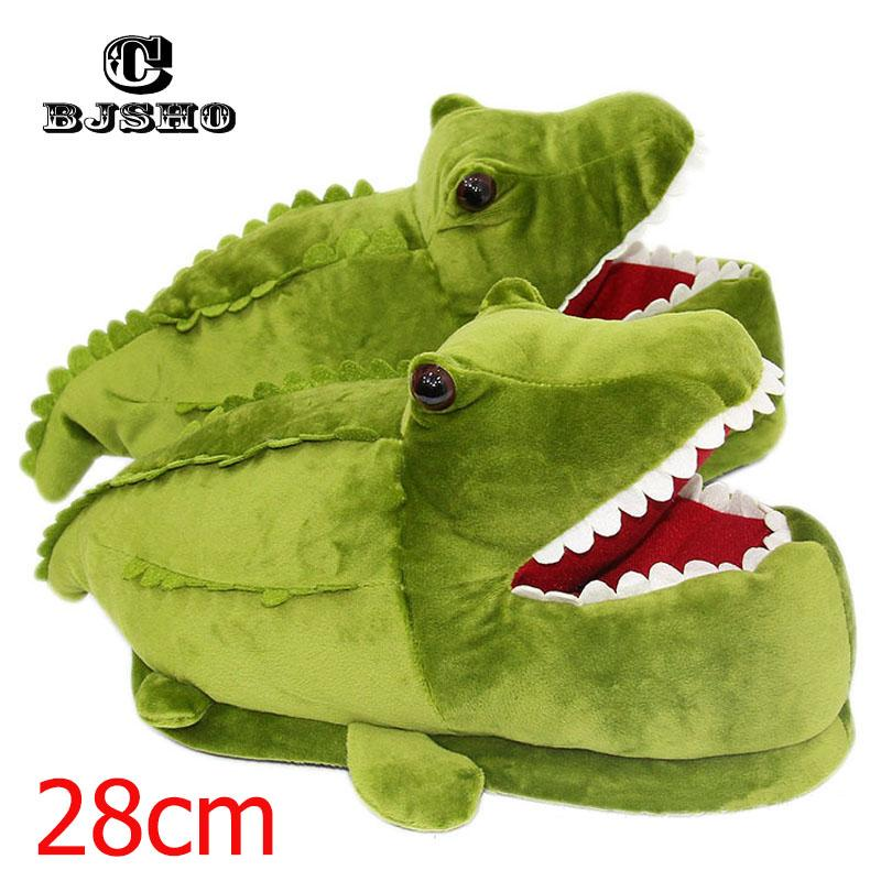 298ea656b77 Wholesale Winter Warm Soft Plush Slippers Men Women Animal Funny Monster  Dinosaur Slippers Indoor Floor Crocodile Slippers Cartoon Western Boots  Discount ...