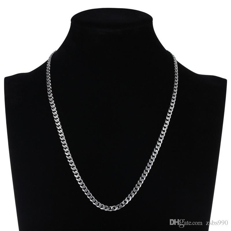 Commercio all'ingrosso 6 MM acciaio inossidabile NK Figaro collana a catena lunghezza 40 cm / 50 cm / 55 cm / 60 cm / 70 cm moda trendy gioielli da uomo rock stile hip hop