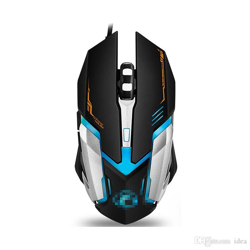 Original iMice V6 Professional Wired Gaming Mouse 2400DPI USB Optical Wired Mouse Mice 6 Buttons Computer Gamer Mouse For LOL Dota2 CS 2018