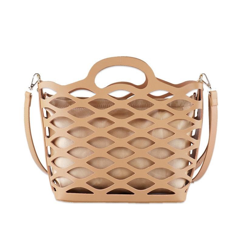 372d22518f Hollow Out Women Fashion Summer Set Handbags Big PU Leather Travel Beach  Tote Bag Girls Casual Stylish Crossbody Bags Satchel Messenger Bags From  Lugudream
