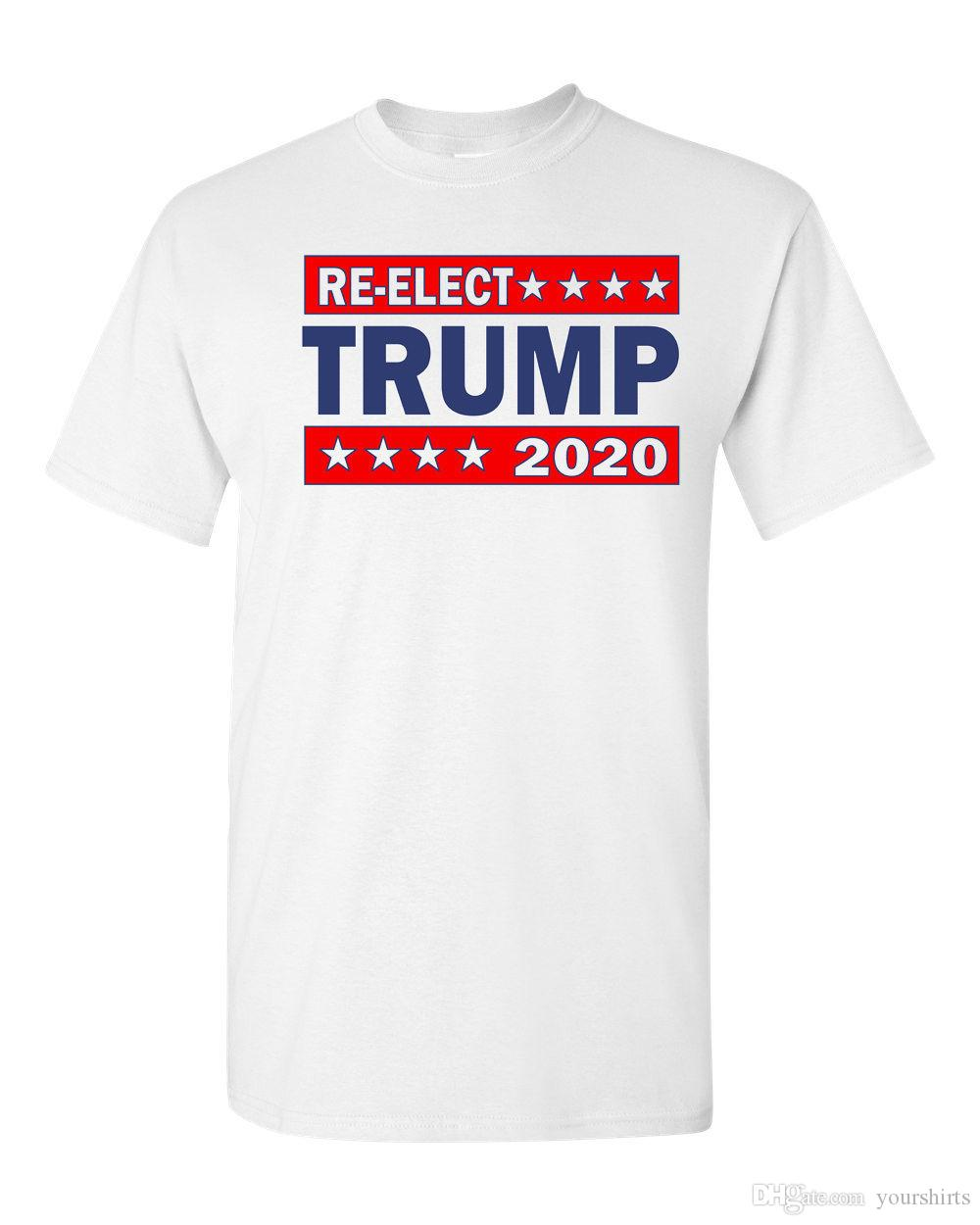 bb3d9c21d Re Elect Donald Trump President 2020 Make America Great Again Men´s T Shirt  1602 T Shirt Men Boy Classic Short Sleeve Thanksgiving Day Custo T Shirt  Deals ...