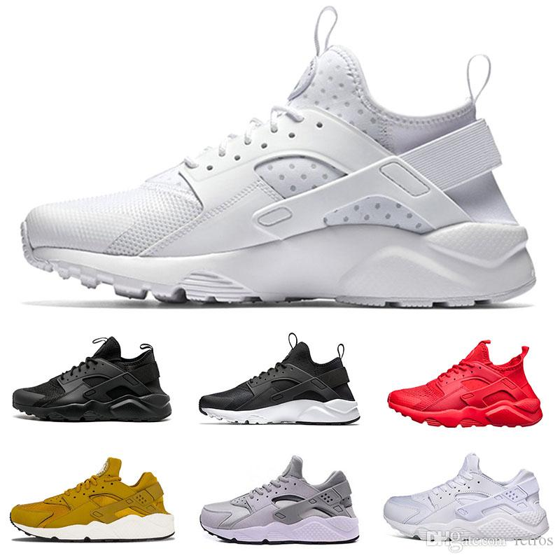 d5ffe31849c7 2018 Huarache Triple Black White Red 1.0 4.0 Running Shoes Gold Grey  Huaraches Men Women Runner Trainer Sport Sneakers Eur 36 45 Running Clothes  Sports ...